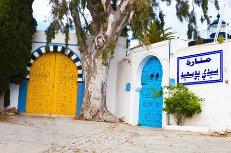 tunisian: Traditional Tunisian door Editorial