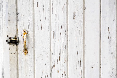 Grunge white wooden panels background photo