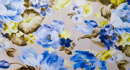 green carpet: Fragment of colorful retro tapestry textile pattern with floral ornament useful as background