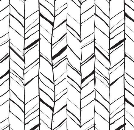 手描き創造的なヘリンボーン パターン、印刷用完全にシームレスな組成物または web プロジェクト