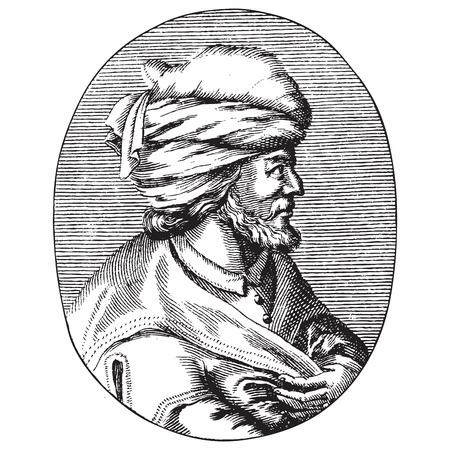 Engraved portrait of Osman Gazi or Osman the First, the founder of the Ottoman Empire