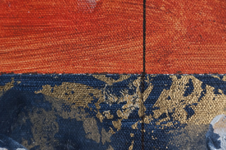 Painted canvas fragment, abstract art painting detail texture background Imagens