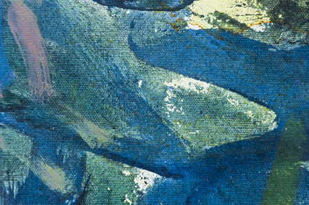 oil paint: Painted canvas fragment, abstract art painting detail texture background Stock Photo