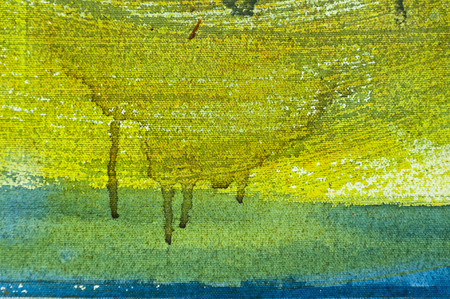 green texture: Painted canvas fragment, abstract art painting detail texture background Stock Photo