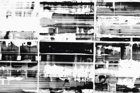 coup de pinceau noir et blanc art texture de fond