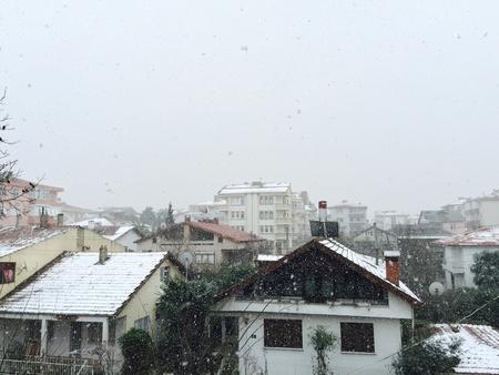 view: Winter scene in Yalova, Turkey