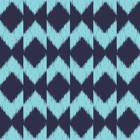 Vector seamless patter design with chevron ikat repeating ornaments Vector
