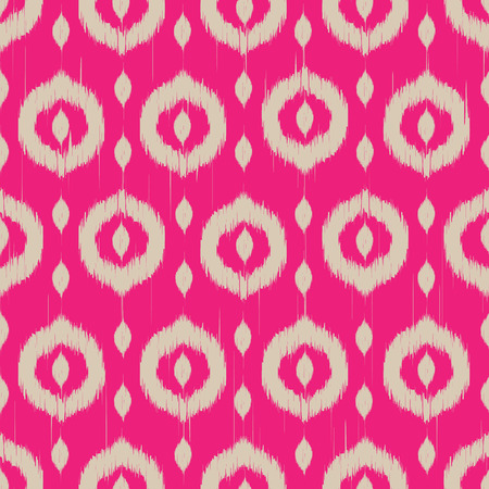 fuchsia: Vector seamless patter design with ikat style repeating ornaments