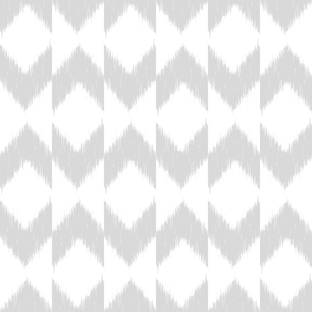 traditional silver wallpaper: Vector seamless patter design with chevron ikat repeating ornaments