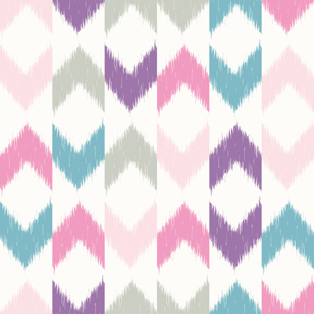 textile patterns: Vector seamless patter design with chevron ikat repeating ornaments