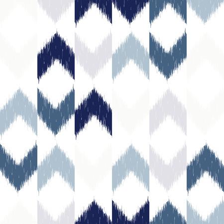 textil: Vector dise�o Golpeteo incons�til con Chevron ikat repitiendo adornos