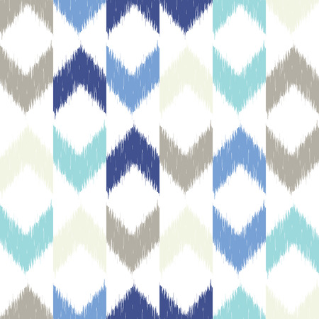 Vector seamless patter design with chevron ikat repeating ornaments