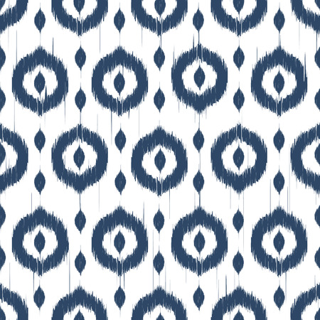 ornaments vector: Vector seamless patter design with ikat style repeating ornaments