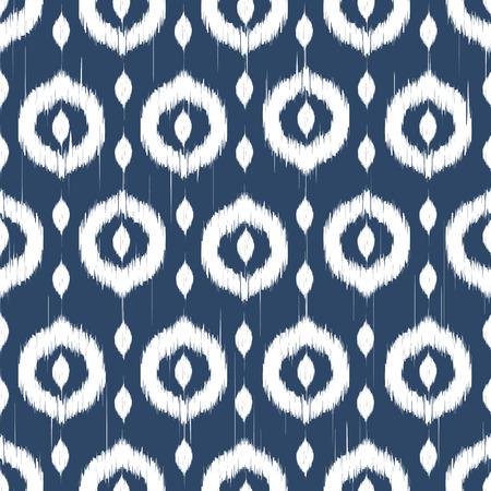 Vector seamless patter Design mit Ikat-Stil wiederholen Ornamente Standard-Bild - 37805196