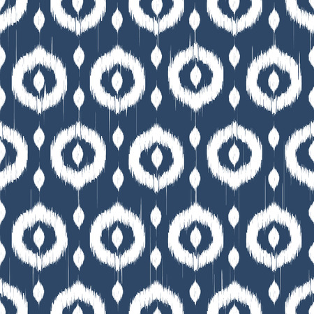 Vector seamless patter design with ikat style repeating ornaments Фото со стока - 37805196