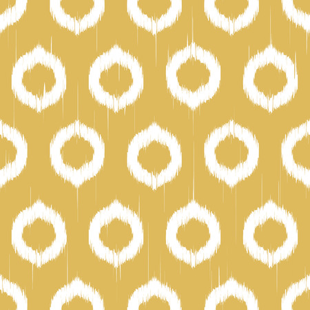 twill: Vector seamless patter design with ikat style repeating ornaments