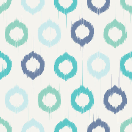 indigo: Vector seamless patter design with ikat style repeating ornaments