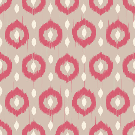 Vector seamless patter design with ikat style repeating ornaments Vector