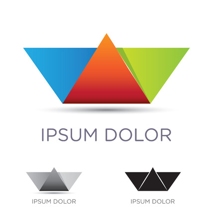 Abstract icon design with a colorful paper boat origami art Vector