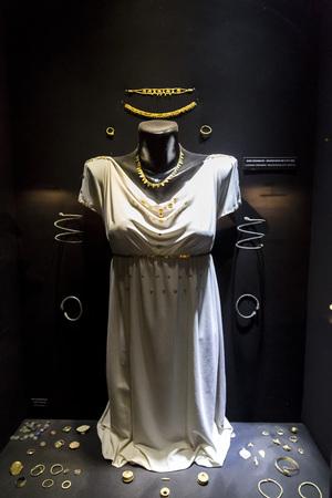 Ancient remains in Bodrum Castle Museum, the belongings of Karian Queen, Turkey