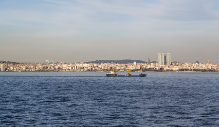 Istanbul cityscape Asian side of the Bosphorus photo