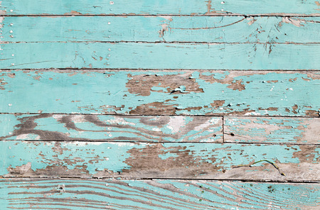 worn structure: Aqua peeled wooden background Stock Photo