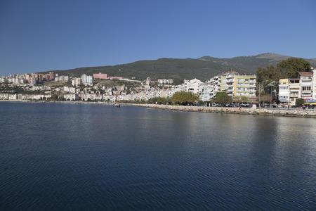 marmara: View of Gemlik city center. Gemlik is a coastal town near Bursa by the Sea of Marmara Turkey Stock Photo