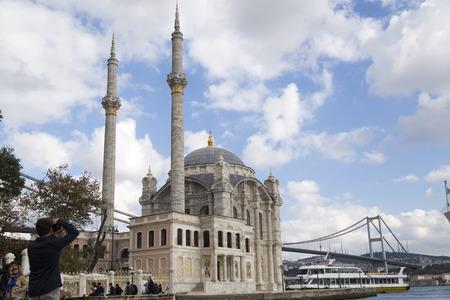 bosphorus: Ortakoy Mosque and the Bosphorus Bridge Istanbul