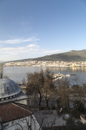 marmara: Lookingdown view of Gemlik city center. Gemlik is a coastal town near Bursa by the Sea of Marmara Turkey.