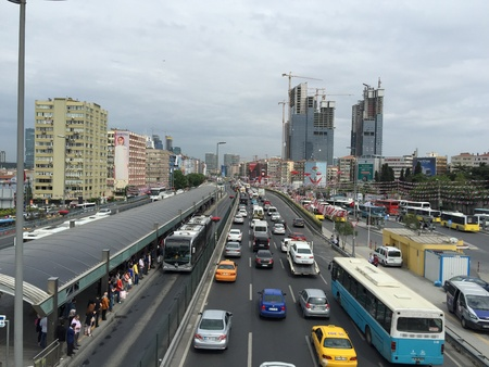urban: Sisli, Mecidiyekoy is one of the most crowded and busiest area of Istanbul, Turkey