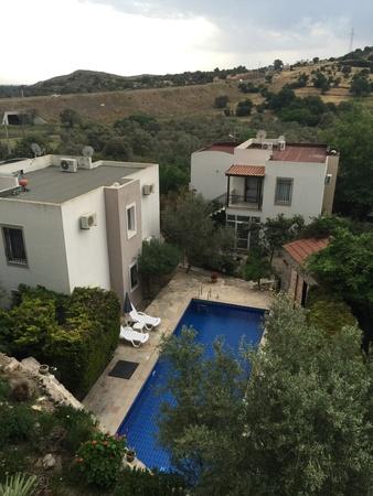 mugla: Villas with swimming pool Stock Photo