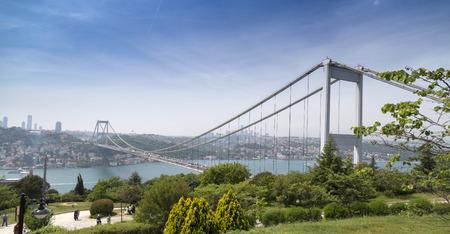 bosphorus: Istanbul view with FSM bridge from Otagtepe, Beykoz