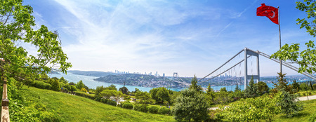 constantinople: Istanbul view with FSM bridge from Otagtepe, Beykoz