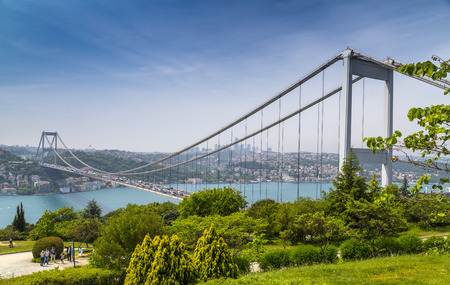 Istanbul view with FSM bridge from Otagtepe, Beykoz