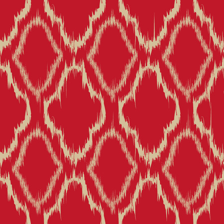 red rug: Seamless pattern design in ikat style, perfect for fabric prints, object surfaces, web backgrounds etc.   Illustration