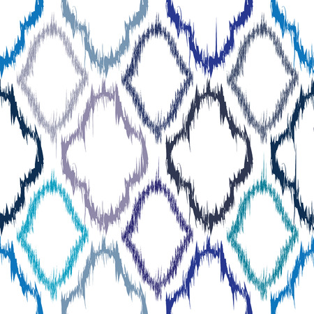 twill: Seamless pattern design in ikat style, perfect for fabric prints, object surfaces, web backgrounds etc.   Illustration