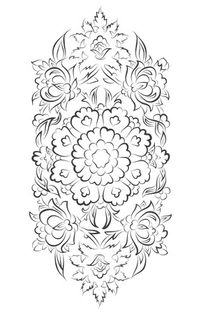 iznik: Vector islamic ornament drawing with floral decorations