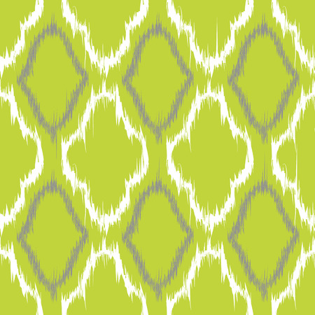 twill: Seamless pattern design in ikat style, perfect for fabric prints, object surfaces, web backgrounds etc. Fully editable eps vector. Illustration