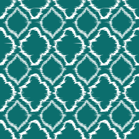 trellis: Seamless pattern design in ikat style, perfect for fabric prints, object surfaces, web backgrounds etc. Fully editable eps vector. Illustration