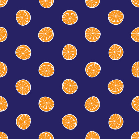 rotated: Vector seamless pattern with rotated half citrus fruits, can be interpreted as lemons, grapefruits, oranges etc.