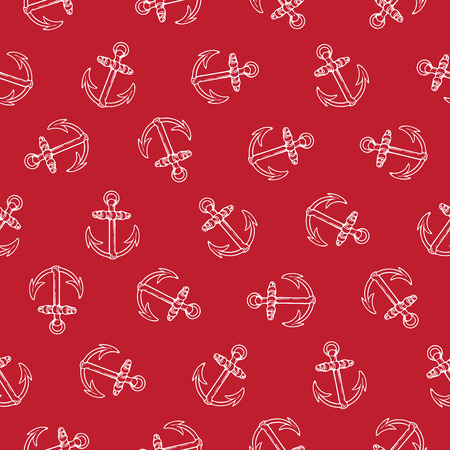 Vector seamless pattern design with rotated anchors, marine concept, perfect for surface prints, wallpapers, wrapping papers, web, textiles etc.