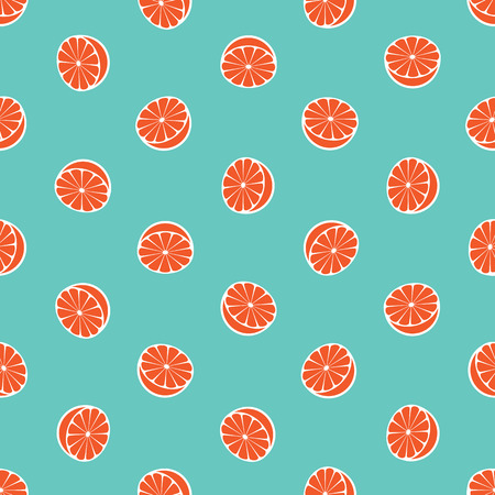 orange juice: Vector seamless pattern with rotated half citrus fruits, can be interpreted as lemons, grapefruits, oranges etc.