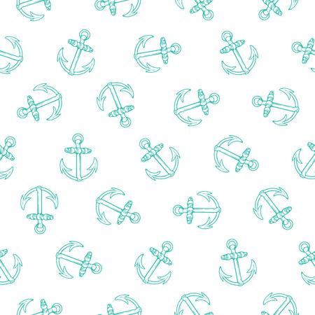 ancre marine: Conception seamless pattern avec des ancres tourn�es, le concept marine, parfaite pour des impressions de surface, fonds d'�cran, papiers d'emballage, web, etc. textiles Illustration