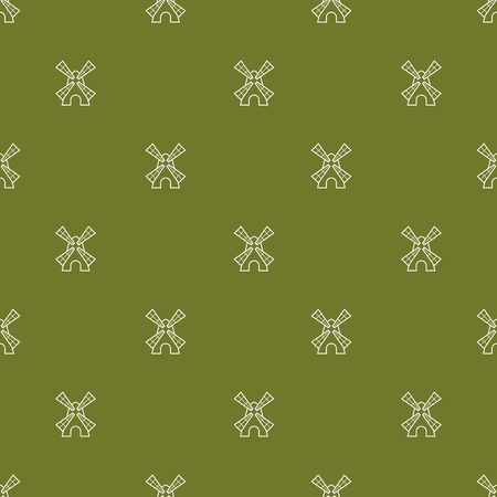 tiles: Vector seamless pattern with cute little windmills Illustration