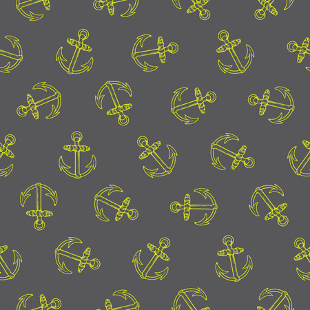 rotated: Vector seamless pattern design with rotated anchors, marine concept, perfect for surface prints, wallpapers, wrapping papers, web, textiles etc.