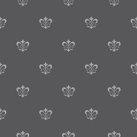 fleur of lis: Elegant vector seamless pattern design with lis de fleur symbols Illustration