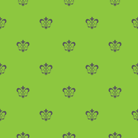 lis: Elegant vector seamless pattern design with lis de fleur symbols Illustration