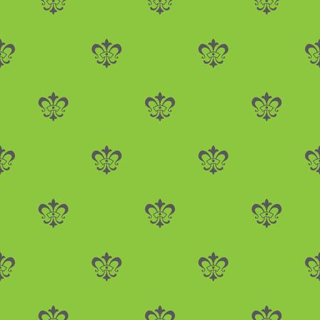 Elegant vector seamless pattern design with lis de fleur symbols Illustration