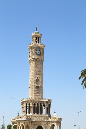 clocktower: Famous ancient clocktower in Konak Square, Izmir, built in 1901, the tower became the symbolic landmark of Izmir