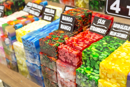 Aromatic handmade soaps Stock Photo